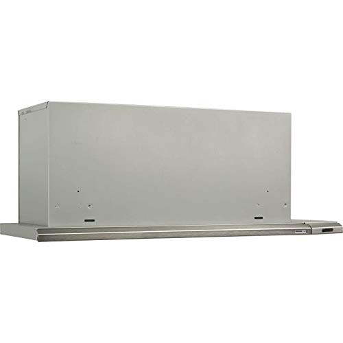 Broan 153604 Slide Out Range Hood, 36-Inch 300 CFM, Brushed -