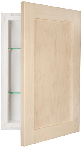 WG Wood Products FR-218-Unf Door Shaker Style Frameless Recessed In Wall Bathroom Medicine Storage Cabinet-Multiple Finishes, Unfinished by WG Wood Products