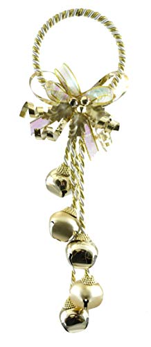 Jingle Bells Holiday Door Knob Hanger (Gold)