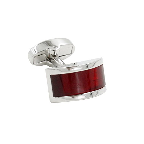 Ruby Stone Red Cufflinks | Wedding Anniversary Gift | Cuff Links Gift for Men | 5 Yr Warranty by AUSCUFFLINKS (Image #2)