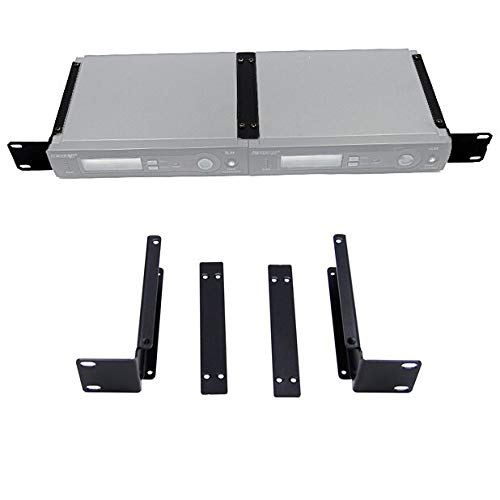 (Rhinos 1U Rack Mount Bracket Kit For Shure SLX4 2-Wireless Mic System Receiver)