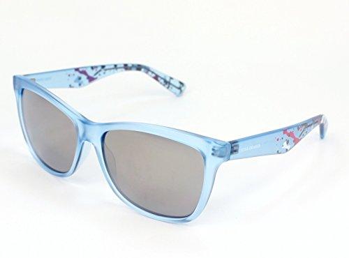 Boss Orange Women's Blue In Matt Frame/Grey With Mirrored Style Lens Non-Polarized Sunglasses 56 - Sunglasses Boss Orange Blue