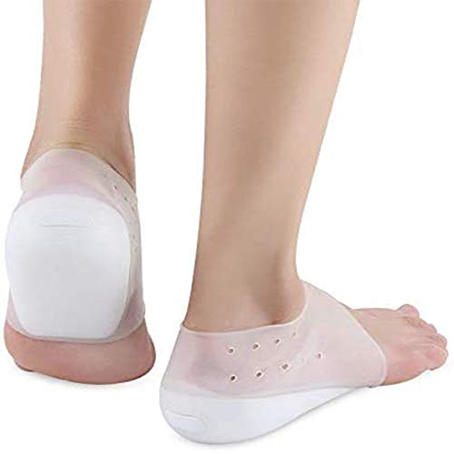 Dr.Pedi Height Increase Heels Cushion Insole, Gel Heel Invisible Height Elevators, Heal Dry Cracked Heels, Arch Support…
