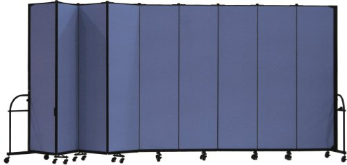 Screenflex Heavy Duty Portable Room Divider (HFSL749-DS) 7 Feet 4 Inches High by 16 Feet 9 Inches Long, Designer Blue Fabric by Screenflex