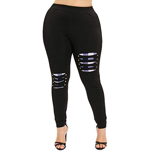 Mid Thigh Workout Shorts for Women, Red Yoga Pants for Women,Women High Waist Yoga Sport Casual Pants Plus Size Willow Spike Leggings Pants by PLENTOP (Image #5)