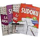 Adult Activity Books Games Puzzles Pack: Large Print Word Finds and Variety Sudoku Puzzle Books Brain Teasers Puzzles