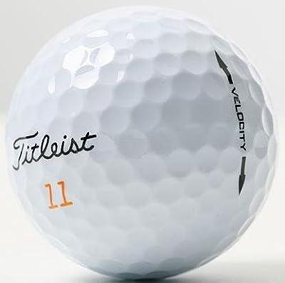 Titleist Velocity AAAAA Recycled Golf Balls, Like New, 24-Pack