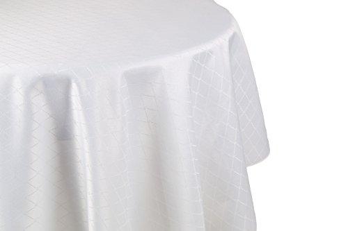 Betz edle Jacquard Tischdecke Tischtuch Tischwäsche rund Farbe: creme Größe 160 cm