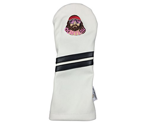 Sunfish Leather Driver Headcover - Embroidered Macho Man (Headcover Sunfish Driver)