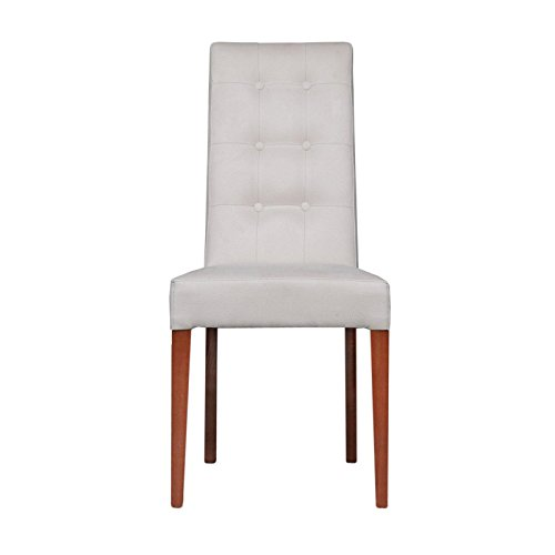 Upholstered Dining Chair Parsons Armless Brown Design: RMG Fine Imports Sarah Upholstered Dining