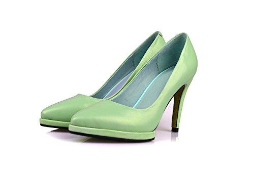 Minivog Plataforma De Tacón Alto Con Punta Para Mujer Zapatos De Bomba Verde
