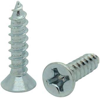 Snug Fastener 100個入り #4 x 1/2インチ フラット 亜鉛コーティング フィリップスヘッド 木製ネジ (SNG76)