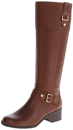 Bandolino Women's Cranne Wide Calf Leather Riding Boot - ...