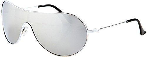 Petites lunette de soleil femme aviateur miroir avec pochette de protection et chiffon CCO5R1kLo