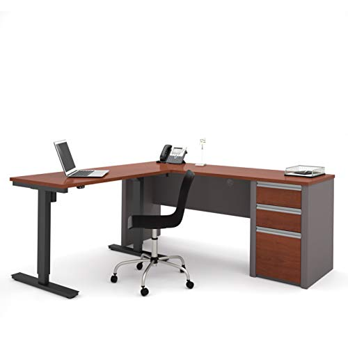 (Bestar Connexion L-Desk Including Electric Height Adjustable Table)