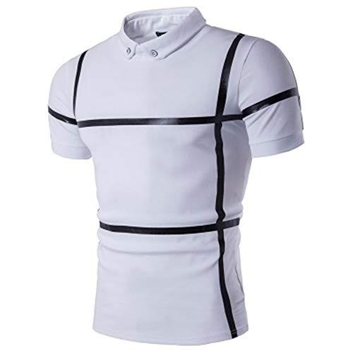 - Men's High Performance Polo Shirt(White-Large)