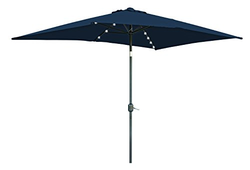 Rectangular Solar Powered Lighted Umbrella