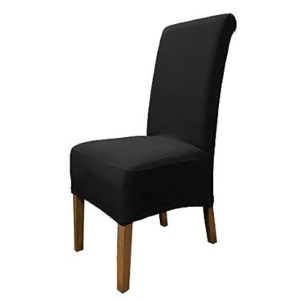 SCHEFFLER-Home Emma 2 Fundas de sillas, Estirable Cubiertas de la sillas, extraíble elástica Funda, con Banda elástica, Altura del Asiento 20-24 cm ...
