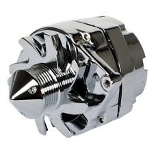 Eagle High Fits High Amp Alternator GM Hotrod Chrome 6-Groove Pulley, GM 200 Amp Chrome One wire or 3 Wires alternator