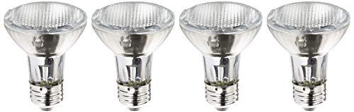 Philips Halogen Dimmable PAR20 Flood Light Bulb: 2900-Kelvin, 39-Watt (50-Watt Equivalent), E26 Medium Screw Base, Soft White, 4-Pack (Philips Par20 Led)