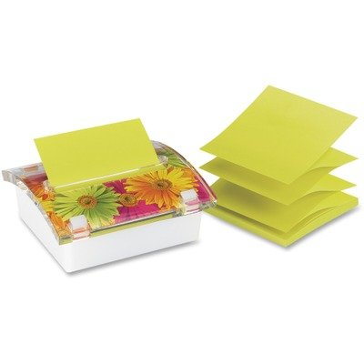 MMMDS330LSP - Pop-up Note Dispenser with Designer Daisy Insert by Post-it