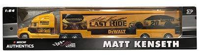 NASCAR Authentics Matt Kenseth #20 Trailer / Hauler - Team Racing Hauler Transporter Semi Tractor Trailer Rig Truck 1/64 Scale - Metal Cab Plastic Trailer