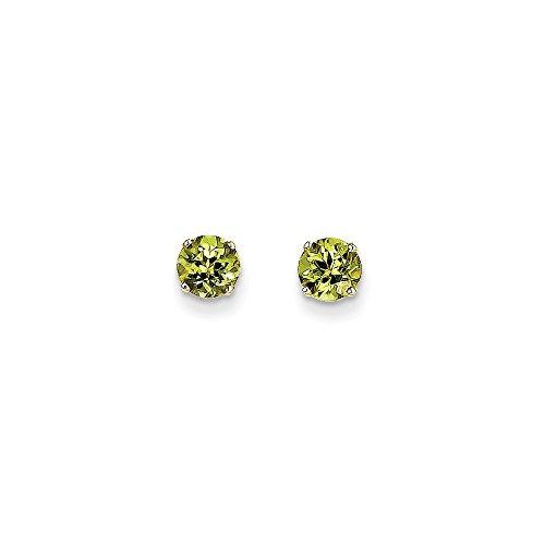 Top 10 Jewelry Gift 14k 5mm Peridot Earrings - August