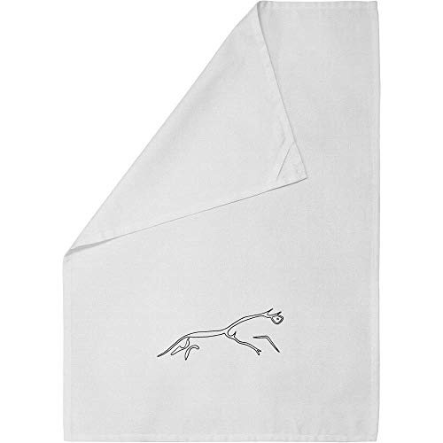 Azeeda 'Uffington White Horse' Cotton Tea Towel / Dish Cloth (TW00007982)