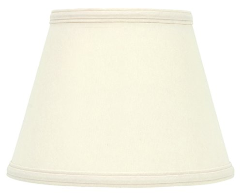 Upgradelights Eggshell Silk 5 Inch Clip On Chandelier Lamp Shade 2.5x5x4.15