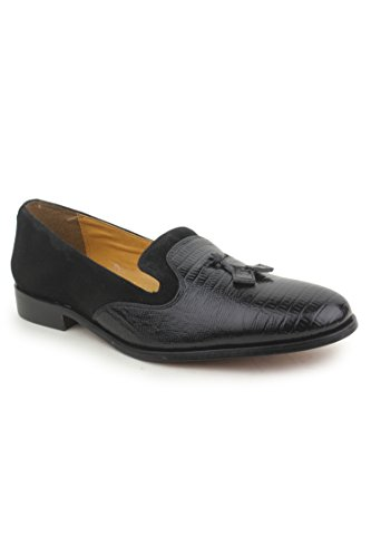 PU Tassels Footbed Big Black Loafer Mens Shoes Slip Padded On Boys Liberty Leather qpaOZnw