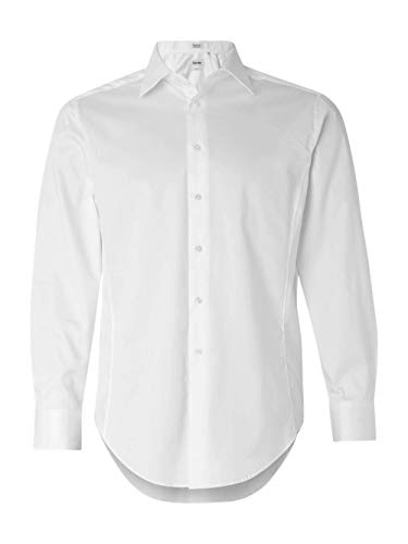 Calvin Klein Mens Slim Fit Cotton Stretch Dress Shirt. 13CK023 - Large - (Calvin Cotton Dress Shirt)
