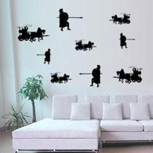 (WD29810 Greek Warrior Terracotta Wall Graphics Decoration Decals Stickers)