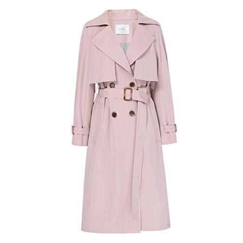 Disegno Primavera Moda Da Tendenza Lungo Vento Giacche Con Pink Rosa Allentato Donna Coulisse Vita Studente Cappotti A Giacca w6fvx