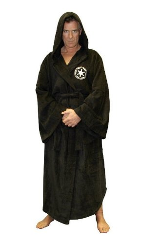 986489aeac Star Wars Galactic Empire Adult Fleece Hooded bathRobe Dressing Gown ...