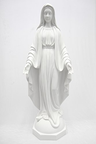 39'' Our Lady of Grace Virgin Mary Madonna Mother Catholic Religious Statue Sculpture Indoor Outdoor Garden Grotto Vittoria Collection Made in Italy by Vittoria Collection