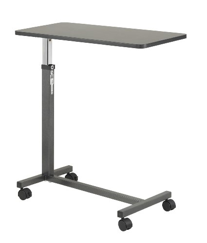 Drive Medical Non Tilt Top Overbed Table, Silver Vein (Desk Bedside)