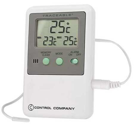 Control Company 4048 Traceable Memory Monitoring Thermometer with Probe, Probe Dimensions 5/16