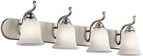 Kichler 45424NI Camerena Bath 4-Light, Brushed Nickel
