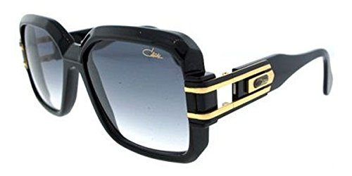 Cazal 623-001 SG Square Sunglasses,Black Frame/Grey Gradient Lens,57 mm