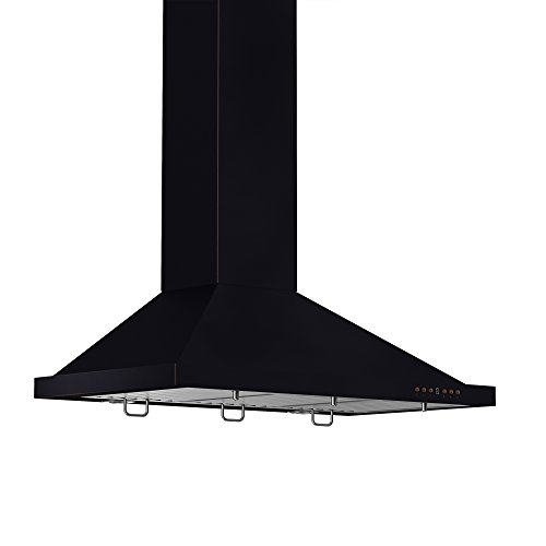 Z Line 8KBB-42 760 CFM Wall Mount Range Hood with Black Finish, 42""