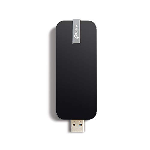 TP-LINK Archer T4U - Adaptador Inalámbrico USB de Banda Dual (AC 1300Mbps, WPS, USB2.0/3.0, Cable de extensión USB), negro