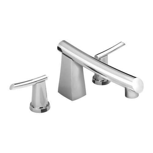 American Standard 7010.900.002 Green Tea Deck Mount Tub Filler, 8-Inch Cast Brass Spout, Metal Lever Handles, Polished Chrome