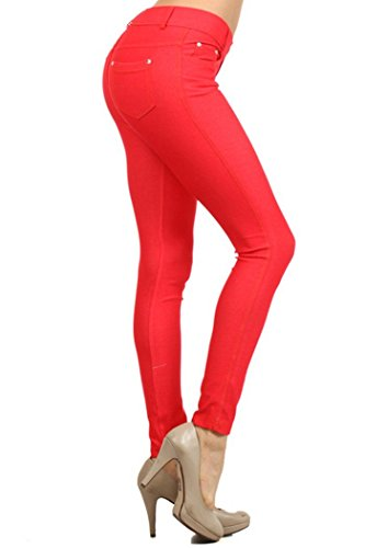 Fashion Mic Womens Cotton Blend Color Jeggings with