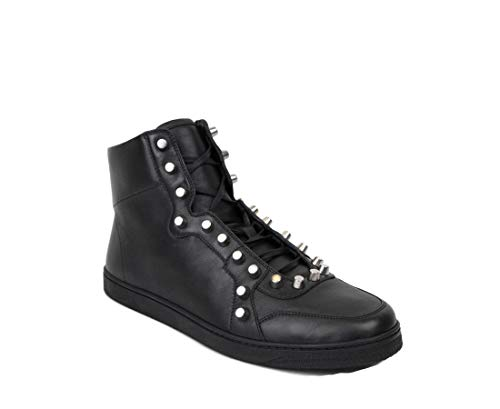 Leather High Top Sneaker 411774 1000 (10 G / 11 US) ()