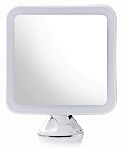 Secura Magnifying Vanity Lighted Makeup Mirror 10X with Natural Warm and White LED lighting and Locking Suction by Secura