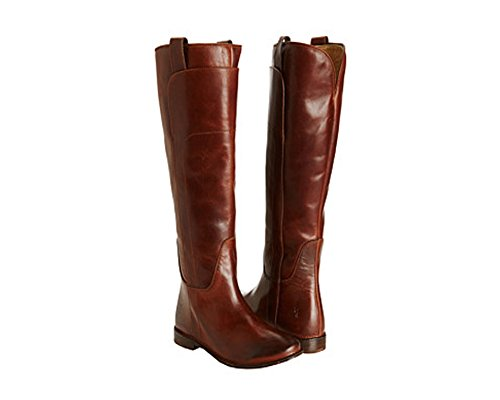 FRYE Women's Paige Tall Riding Boot, Cognac Burnished Full Grain, 6 M US Burnished Cognac