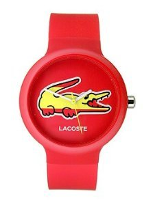 Lacoste Goa Spain Red/White Silicone Unisex watch #2020071