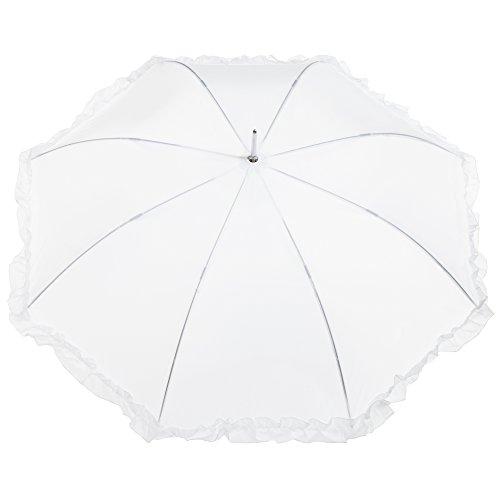 totes Women's Auto Open Ruffle Stick Umbrella by totes (Image #1)