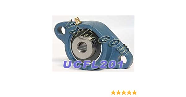 12mm Mounted Bearing UCFL201//2 Bolts Flanged Cast