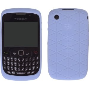 Blackberry Curve 8520 Embossed Silicon Skin Case - Frost Blue OEM Original HDW-24540-001